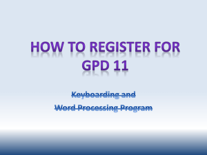 How to register in GDP11