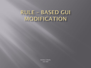 Rule * Based GUI Modification