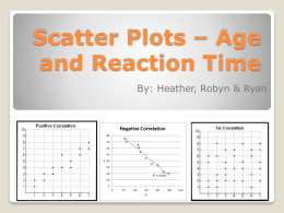 Scatter Plots * Age and Reaction - MathsHRR