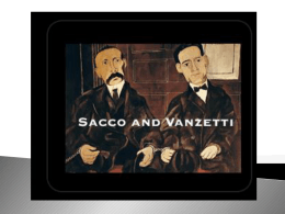 Sacco and Vanzetti Presentation