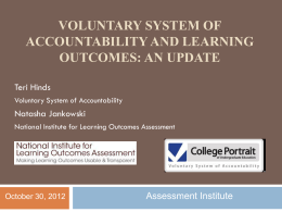 Regional Accreditation and Learning Outcomes Assessment