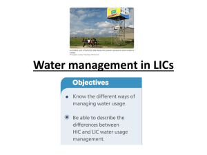 Water management in LICs