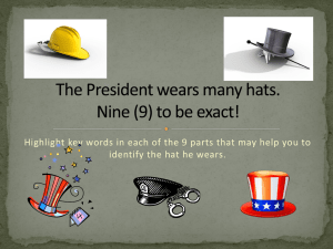 Hat of the President