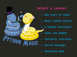 Python Magic - Interactive Classroom.net