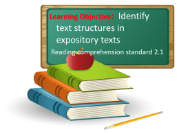 text structure review