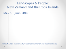 Landscapes and People: New Zealand & Cook Islands