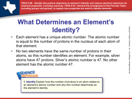 (contd.) How do Valence Electrons Determine an Element`s