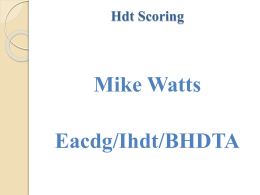 Hdt Scoring - Mike Watts