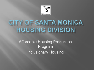 Inclusionary Housing Program