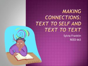 Making Connections: Text to Self and Text to Text