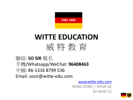 WITTE EDUCATION * * * *