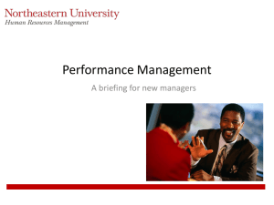Performance Rating - Northeastern University