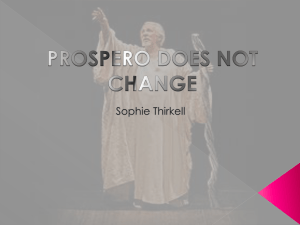 prospero does not change