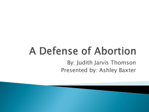 A Defense of Abortion - Judith Jarvis Thomson (Ashley