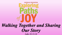 Walking Together and Sharing Our Stories – Prayer Service