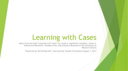 Learning with Cases - Krannert School of Management