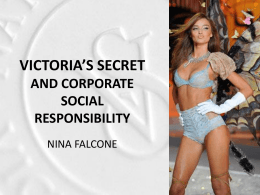 victoria`s secret and corporate social responsibility