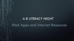 4-8 Literacy Night PowerPoint