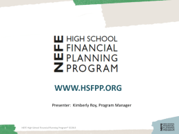 Have a Plan - High School Financial Planning Program