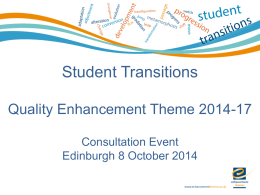 Student Transitions - the Enhancement Themes website