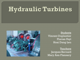 Choice method of hydraulic turbines