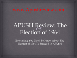 APUSH Review, The Election of 1964