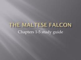 Maltese Falcon study guide 1-5