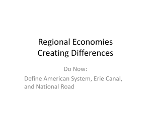 Regional Economies Creating Differences