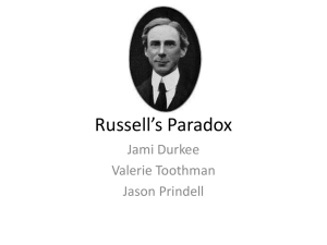 Russell`s Paradox