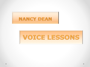 Using Nancy Dean`s `Voice Lessons`