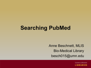 Searching PubMed and Google Scholar