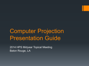 Computer Projection Presentation Guide