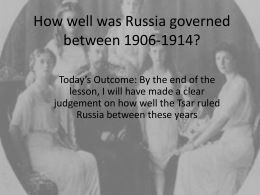 How well was Russia governed between 1906