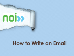 How to Write an Email ()