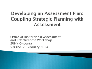 """Developing an Assessment Plan: Coupling"
