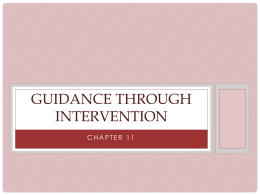 Guidance Through Intervention chapter 11