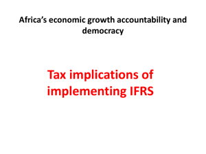 Tax implications of implementing IFRS