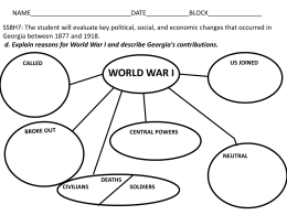 WWI GRAPHIC ORGANIZERS