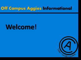 PowerPoint - Off Campus Aggies