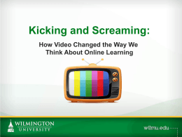 How Video Changed the Way We Think About Online Learning