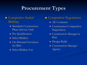 Procurement Methods - University of Virginia