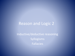 Reason and Logic 2