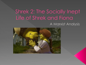 Literary Theory and Shrek 2 power point examplar
