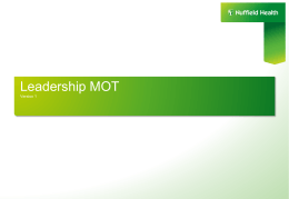 What is the Leadership MOT?