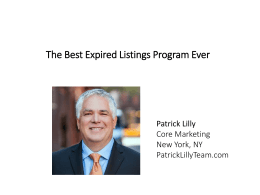 The Best Expired Listings Program Ever