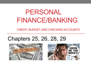ch 25-29 credit & budgets (ppt)