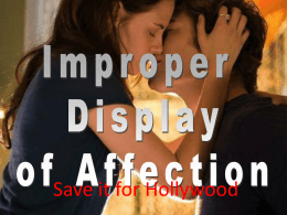 All – Appropriate Affection