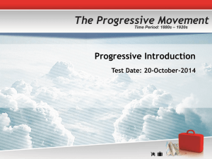 Introduction to Progressive Era