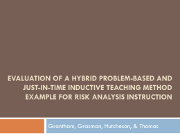 Evaluation of a Hybrid Problem-Based and Just-in