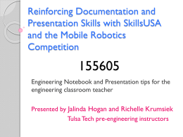 Reinforcing Documentation and Presentation Skills with SkillsUSA
